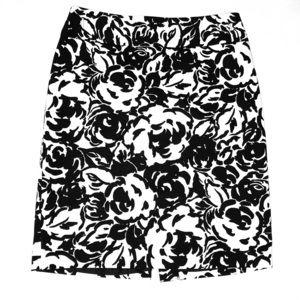 Black & White Liz Claiborne Pencil Skirt